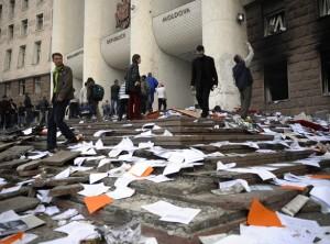 Акции протеста против итогов парламентских выборов в Кишиневе