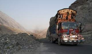 truck in asia mountains